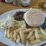 Lovely Butterfly Chicken Breast Burger with haggis