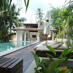 The stunning pool area