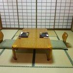la camera pronta per la cena kaiseki