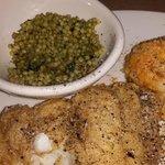 grouper & cous cous with potatos au gratin