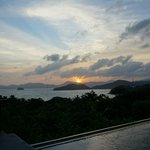 sunset View from our villa