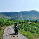 Cruising the black mountains on a Vespa 4