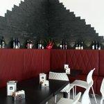 La zona degustazione vini