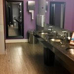 clean lounge area restrooms