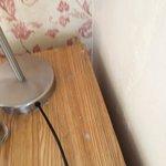 Bedside table dust