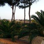 paesaggio dal balcone