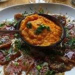 Tataki de thon et purée de patates douces..miam miam