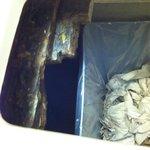 Bathroom garbage! Yuck!