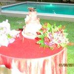 torta sulla piscina