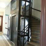 Small lift  and stairs