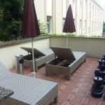 on hotel terrace