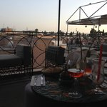 drinks on the rooftop terrace