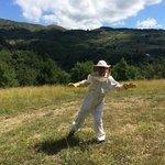 Visiting bee-garden