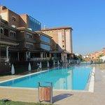 Granada Palace facade and main pool