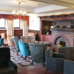 One of the lounges at the Cottage Hotel