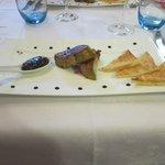Voorgerecht gebakken Foie Gras