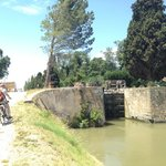 Cycling on the Canal du Midi from Chateau de Siran