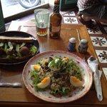 Falafel and quiona salad