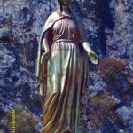 Virgin Mary statue, bring here by Bill Clinton