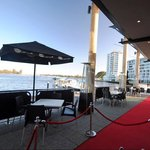 Alfresco waterfront dining