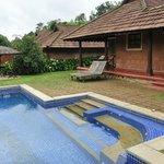 pool and villa view