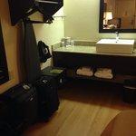 Very nice vanity area