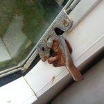 Rusty window locks in caravan 23