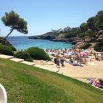 View of Cala Esmeralda from the beach bar
