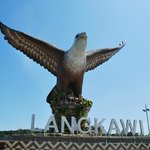 An icon of Langkawi: the statue at Eagle's Square