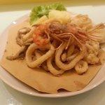 La nostra frittura di pesce cucinata con farina di riso dunque usufruibile anche celiache