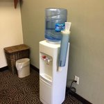 water cooler in workout room