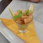 Melone con latte di cocco e vaniglia