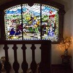La finestra della scala che porta alle camere