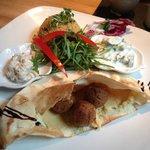 Arabic mezze plate