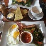 Club sandwich and Full English breakfast