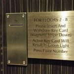 Added security requires keys of registered guests for elevators to guest floors