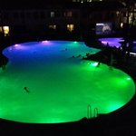 The pool at night. There was a dive inn movie hence the swimmers