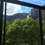 View from our room of Yosemite Falls