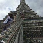 Scared at Wat Arun