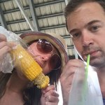Sweet corn from the street vendor and juice in a bag!