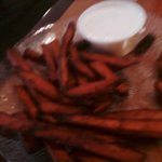Burned sweet potato fries