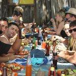 Lunch on Blue safari tour