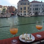 Afternoon canapés on the Grand Canal