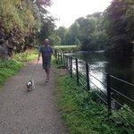 taking a walk at ilam park.