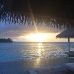 Overwater Villa at sunset