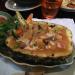 duck pineapple dish at Mango Tree