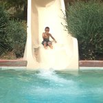 Gabriel on the water slide