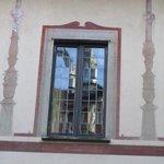 Santa Maria delle Grazie reflected in the window
