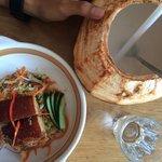 Pork belly on a glass noodle
