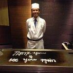 unser sehr nette keyaki chef